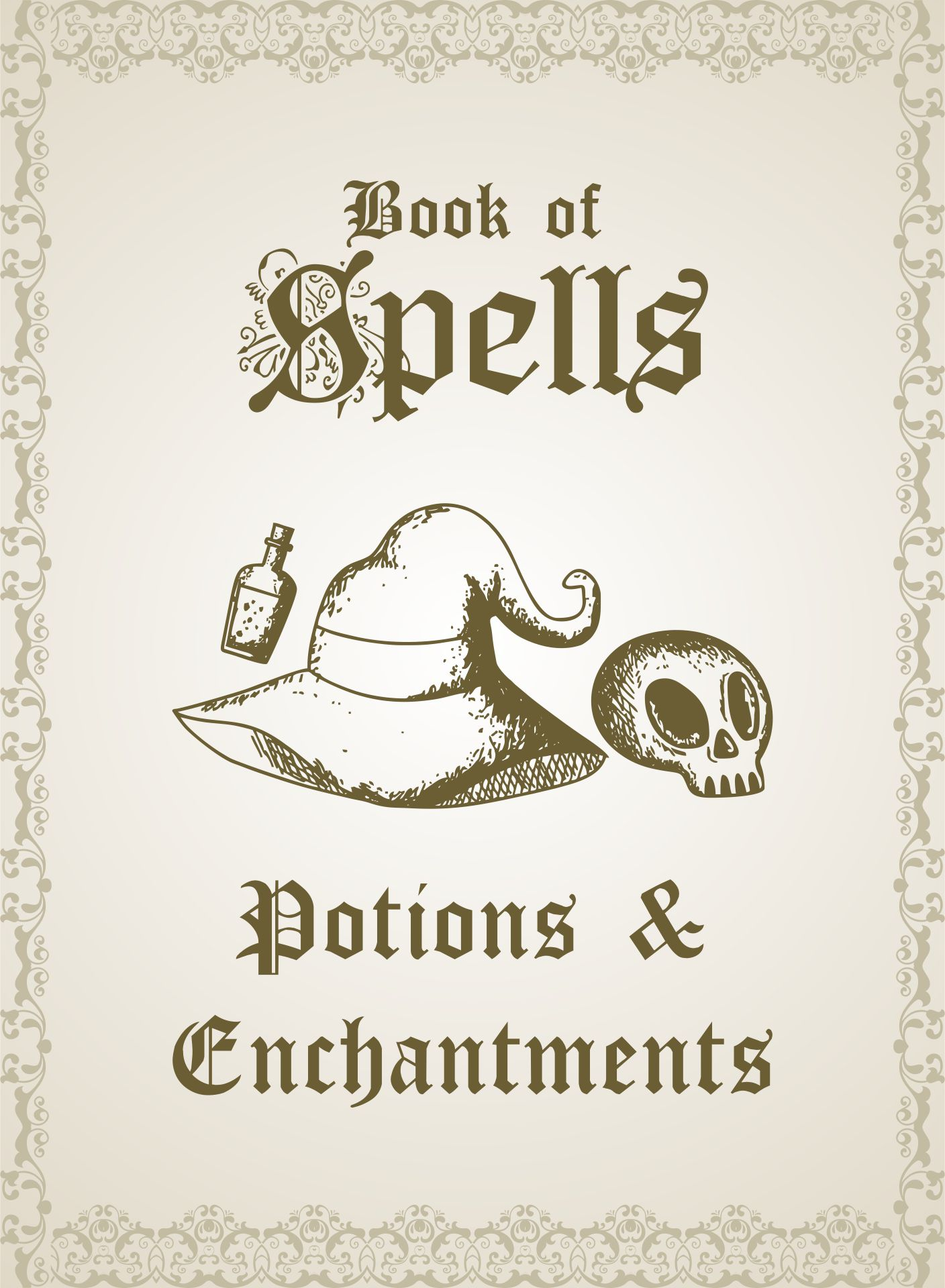 Printable Spell Book Cover