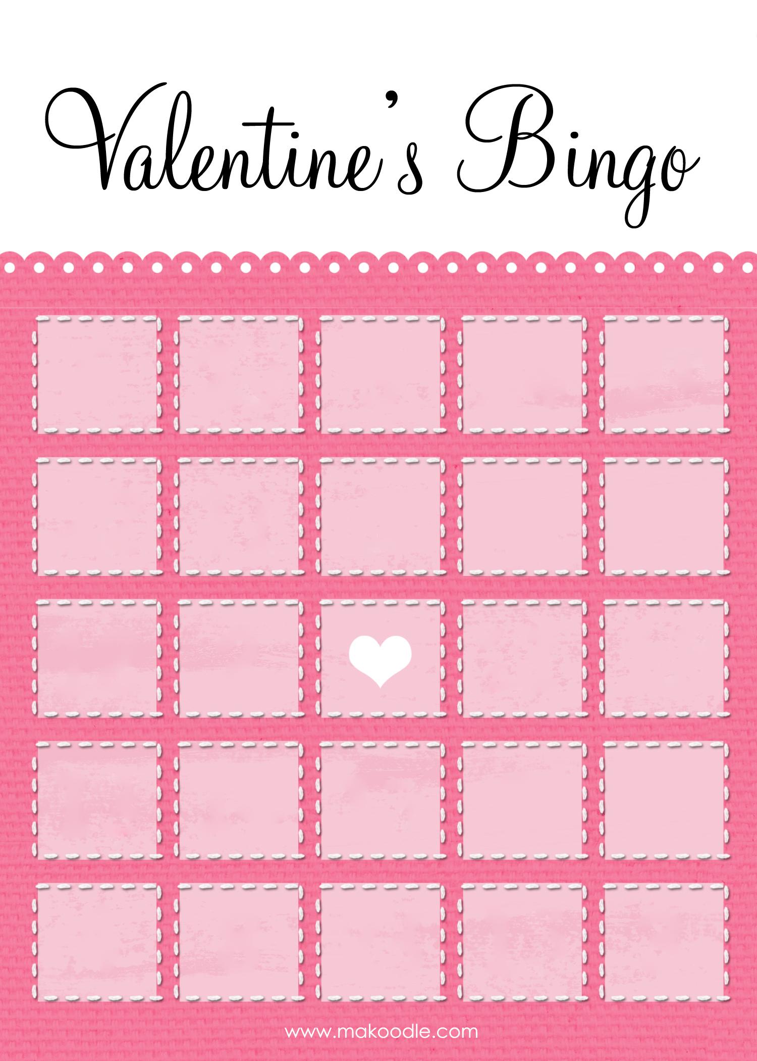 8 Images of Valentine Bingo Free Printable Template