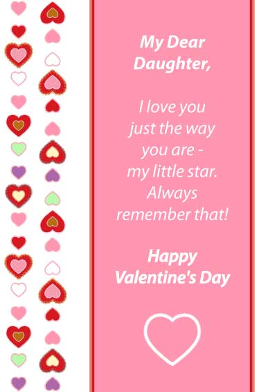 6 Images of Free Printable Valentine Cards Daughter