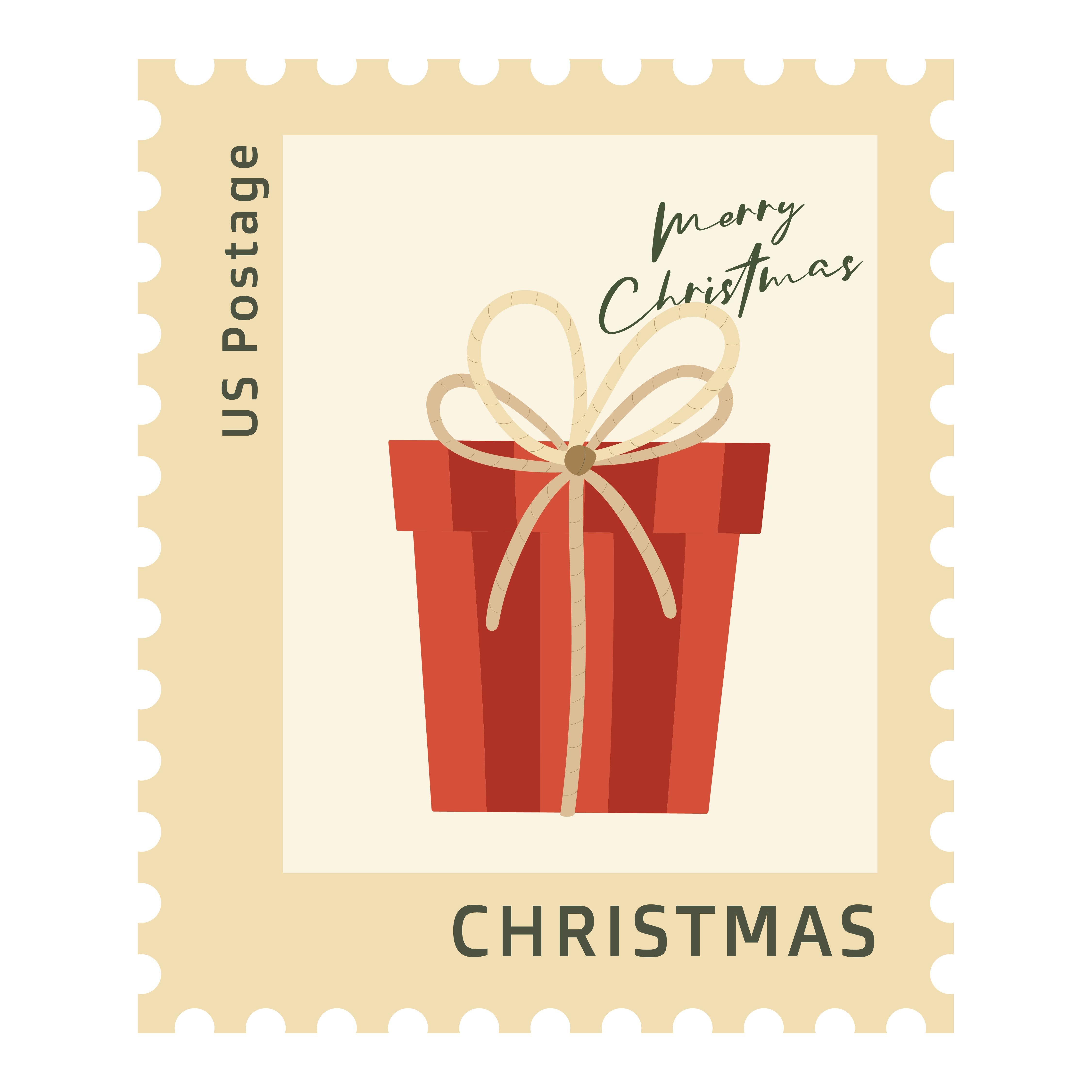 Printable Vintage Christmas Stamps