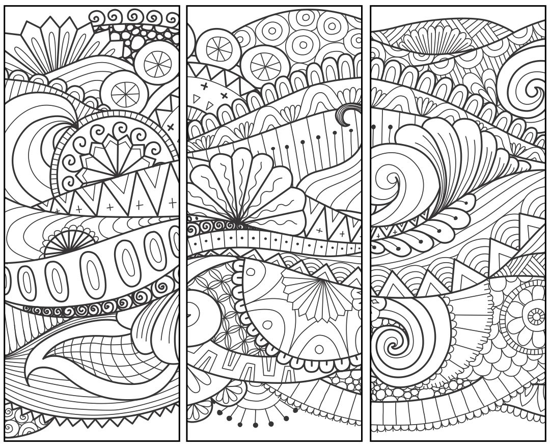 Printable Zentangle Bookmarks Patterns