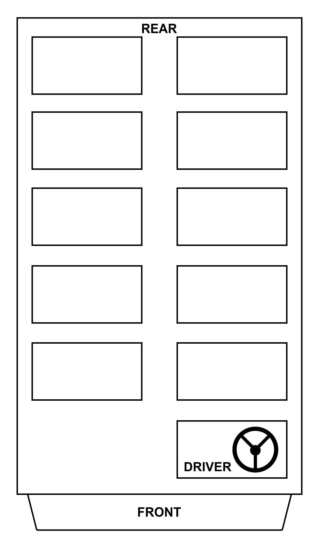 School Bus Blank Seating Charts