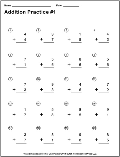 math worksheet : 6 best images of addition simple printable math worksheets  : Simple Addition Math Worksheets