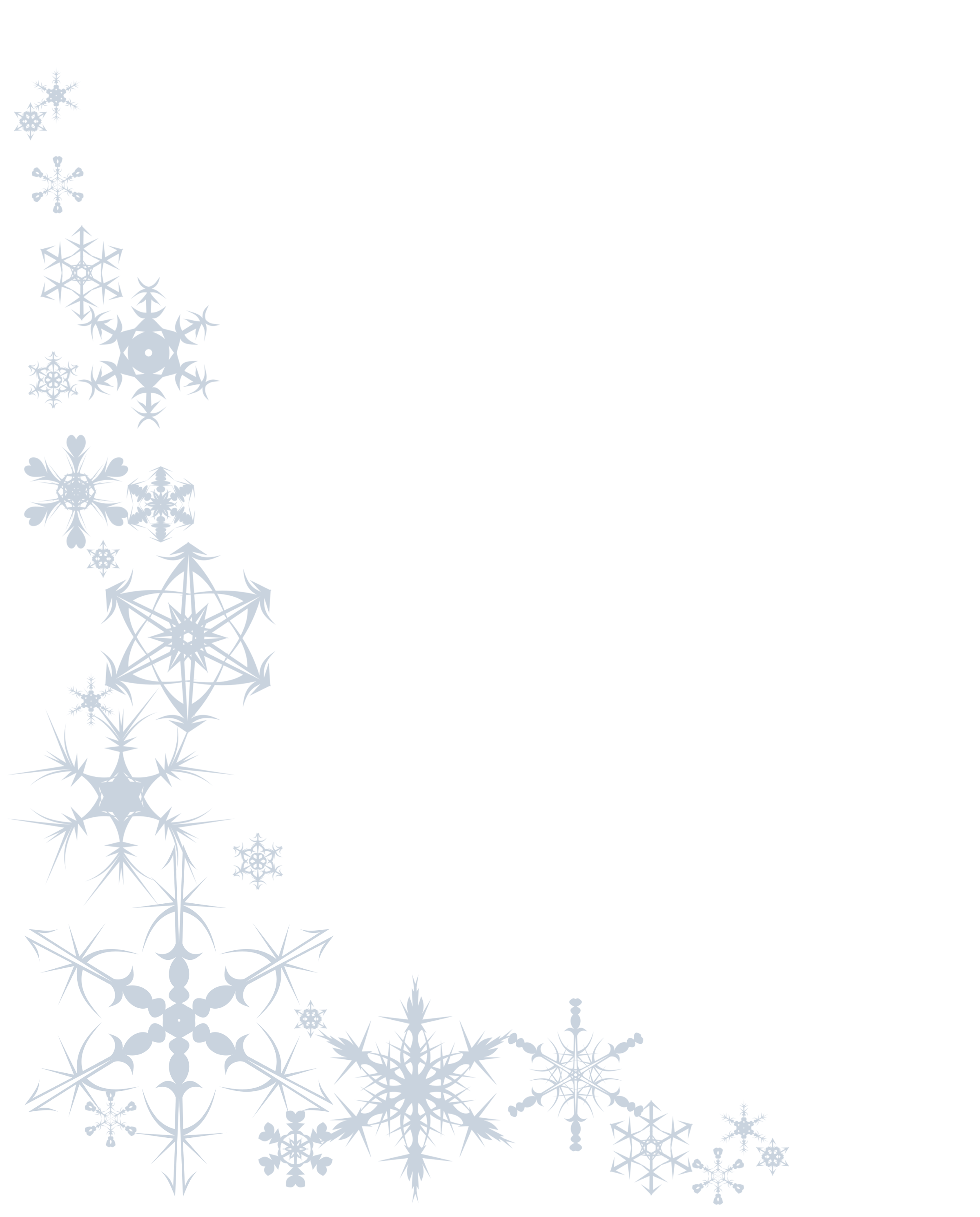 8 Images of Printable Snowflake Border