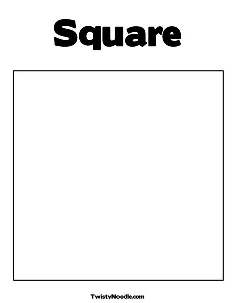 7 Images of Square Shape Template Printable