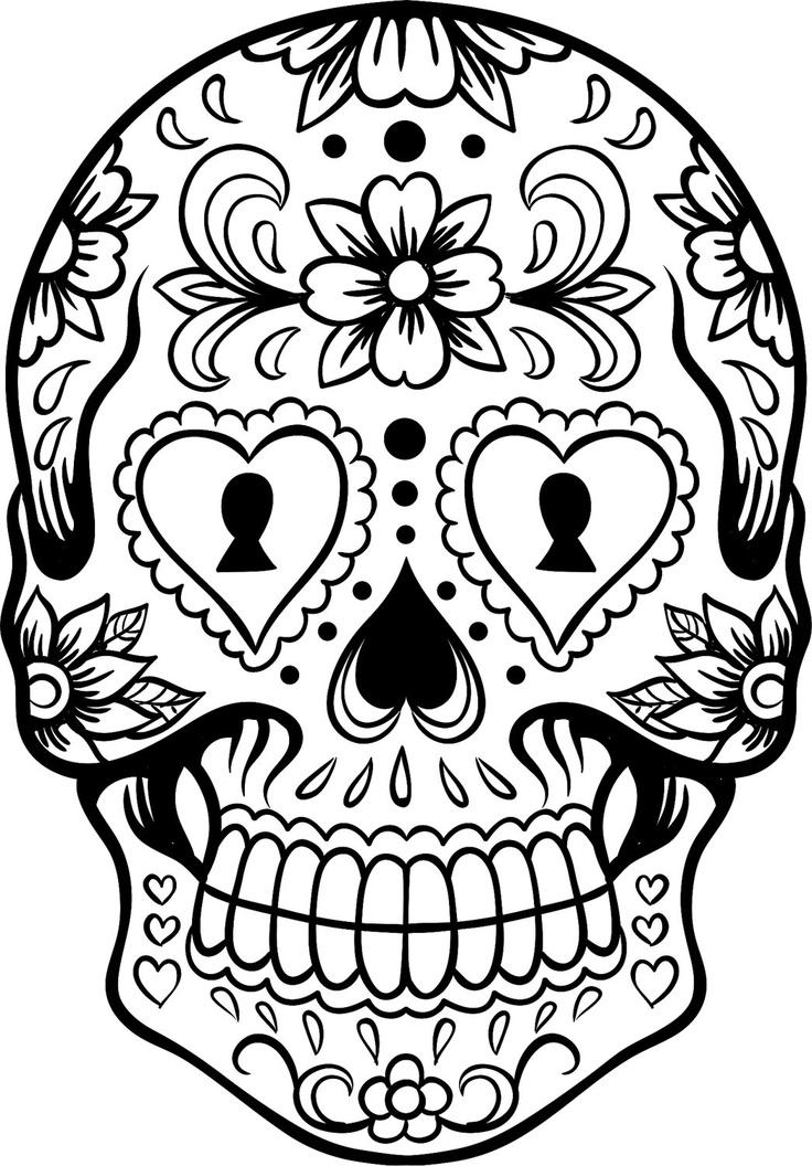 11 Images of Sugar Skull Printable Coloring Sheets