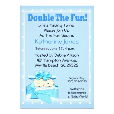 6 best images of twin baby shower free printable templates free printable twin baby shower for Twin baby shower invitations templates free
