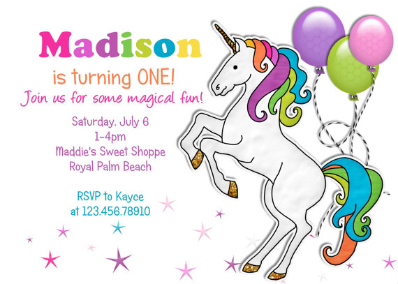 9 Best Images of Free Printable Unicorn Invitations - Unicorn Birthday Party Invitations ...