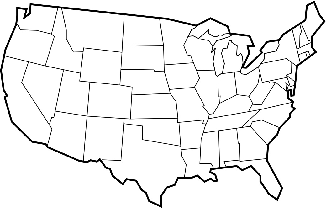 5 Images of Printable Blank Us Map