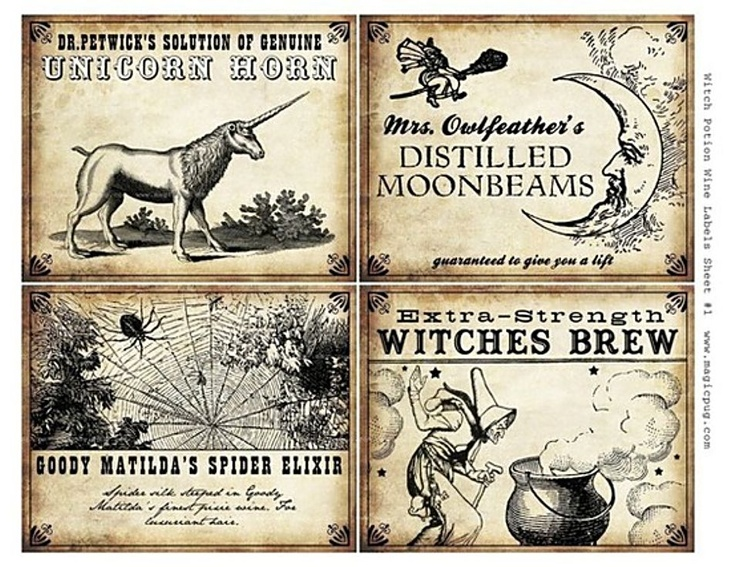 7 Images of Printable Potion Labels