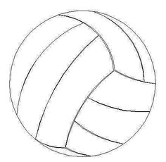 4 Images of 3 Inch Printable Volleyball Templates