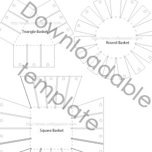 paper basket weaving template - 7 best images of free printable basket patterns free