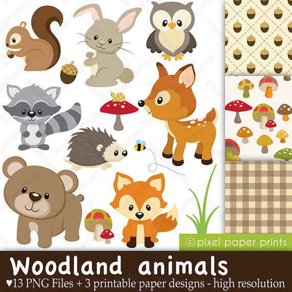 4 Images of Free Printable Woodland Animals
