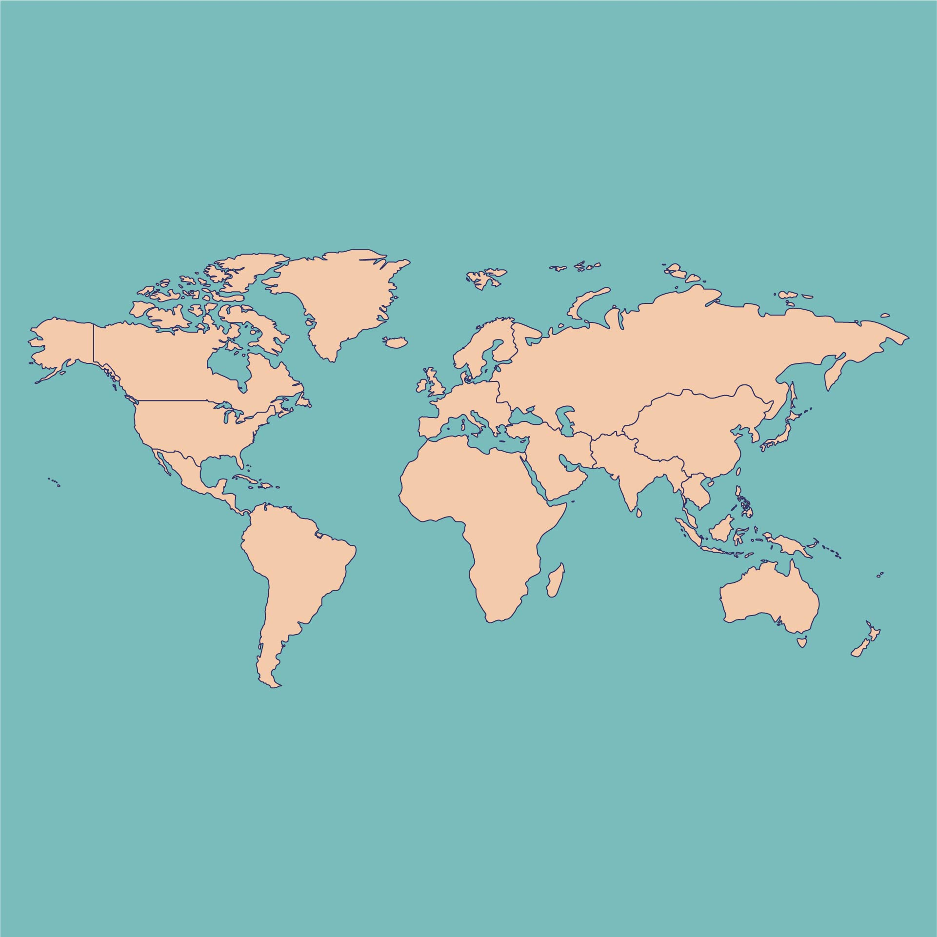 6 Best Images of Printable World Map Not Labeled ...