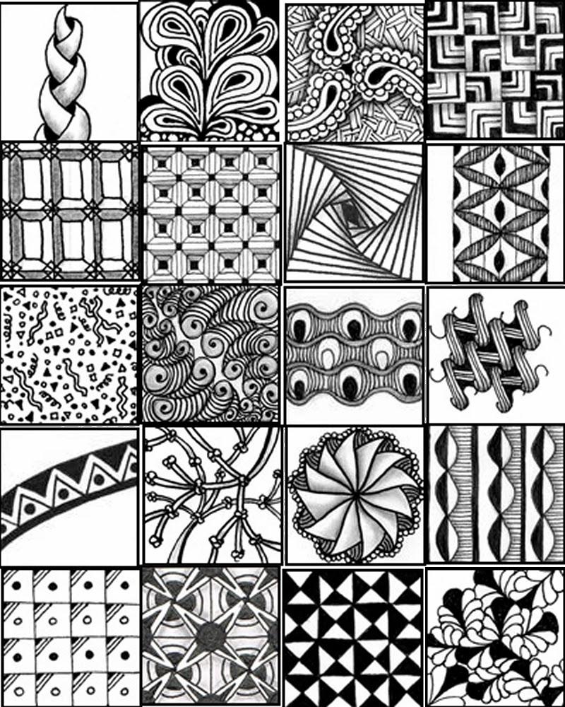 Zentangle Pattern Sheets Printable