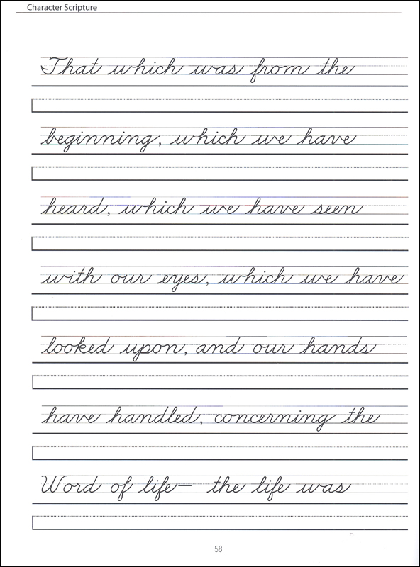 Free printable cursive handwriting worksheets for 3rd grade