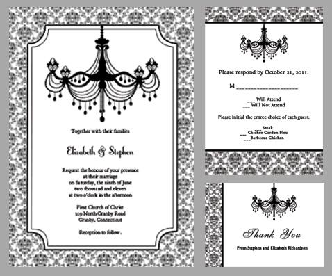 7 Best Images Of Chandelier Wedding Invitation Template Printable