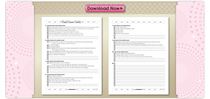 Similiar Printable Bridal Shower Planning Checklist Keywords