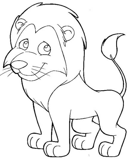 printable lion coloring pages - 8 best images of printable cartoons of lions lion