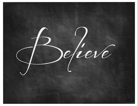 7 Images of Believe Chalkboard Printable