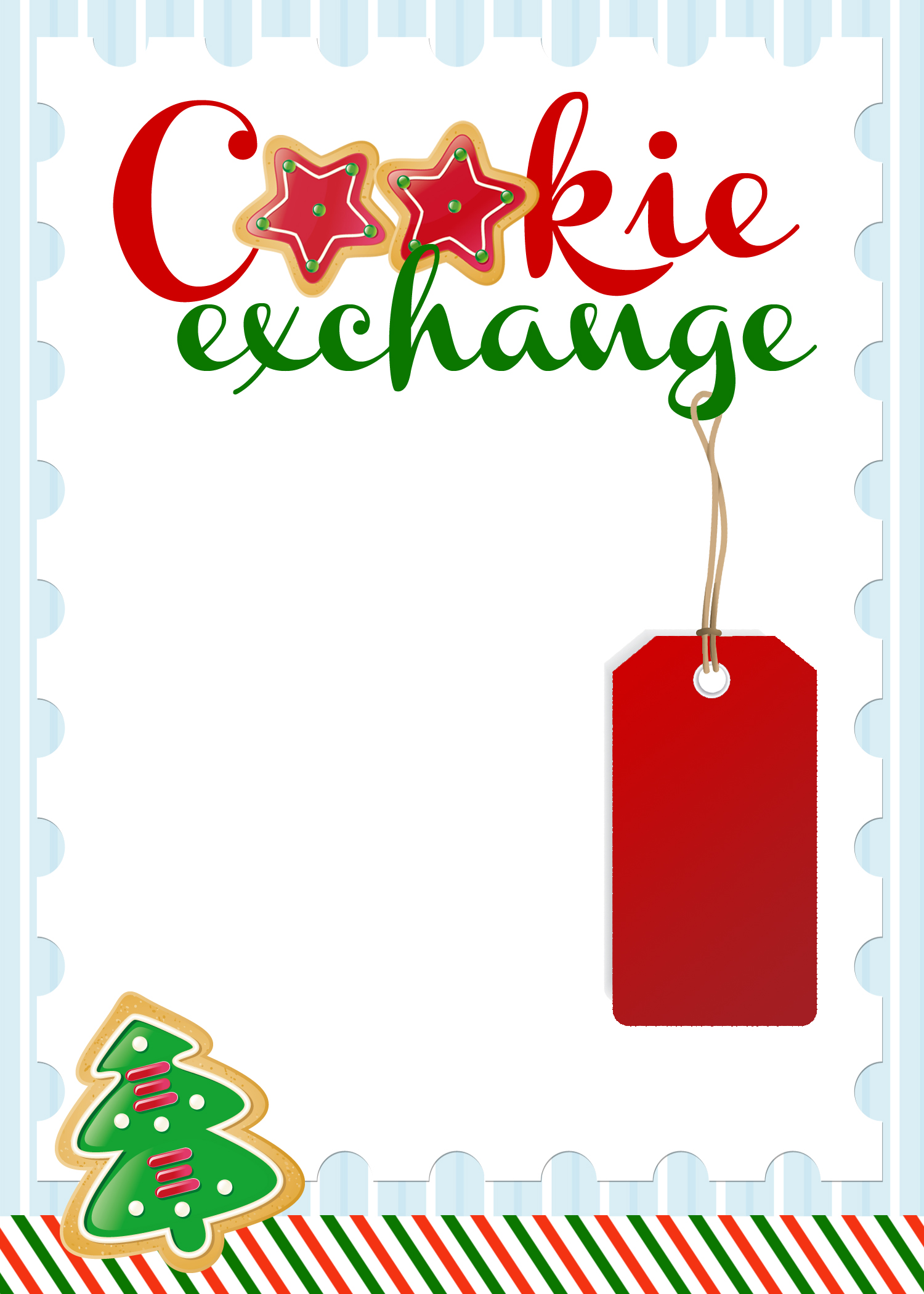 5 Images of Free Printable Cookie Exchange Invitation Template