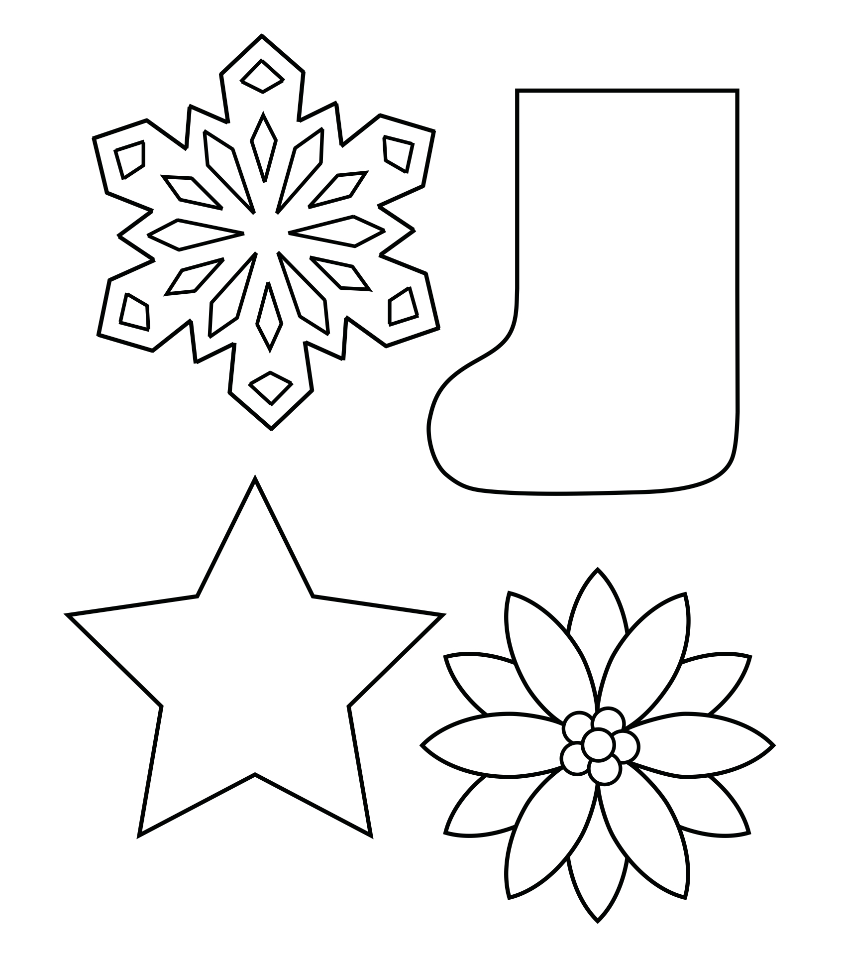 6 Images of Free Printable Christmas Shapes Template