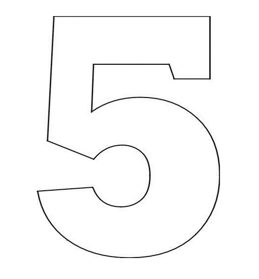 7 Best Images of Printable Number Template 5 - Printable ...