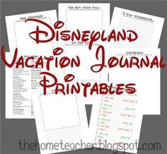 7 Best Images Of Disneyland Vacation Planner Printable