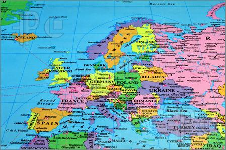 4 Images of Printable Map Of European Cities