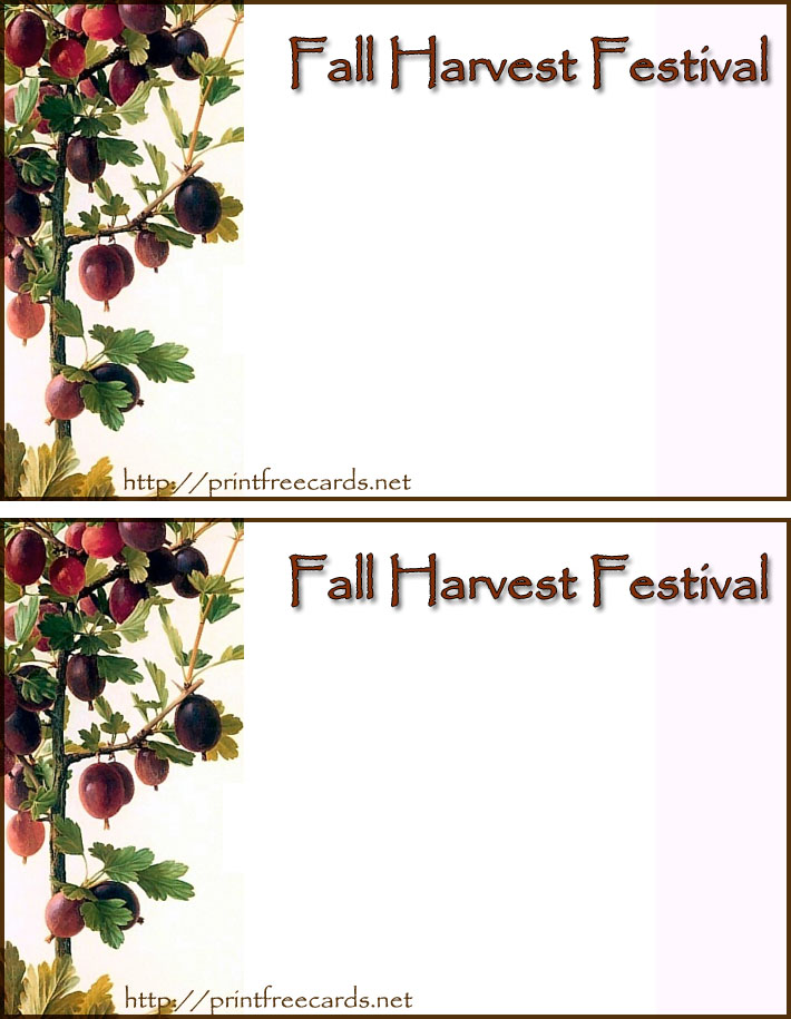 8 Images of Fall Party Invitations Card Printable Free