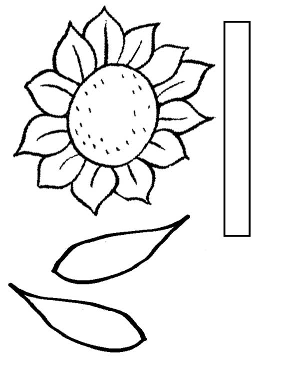 5 Images of Sunflower Center Cut Out Template Printable