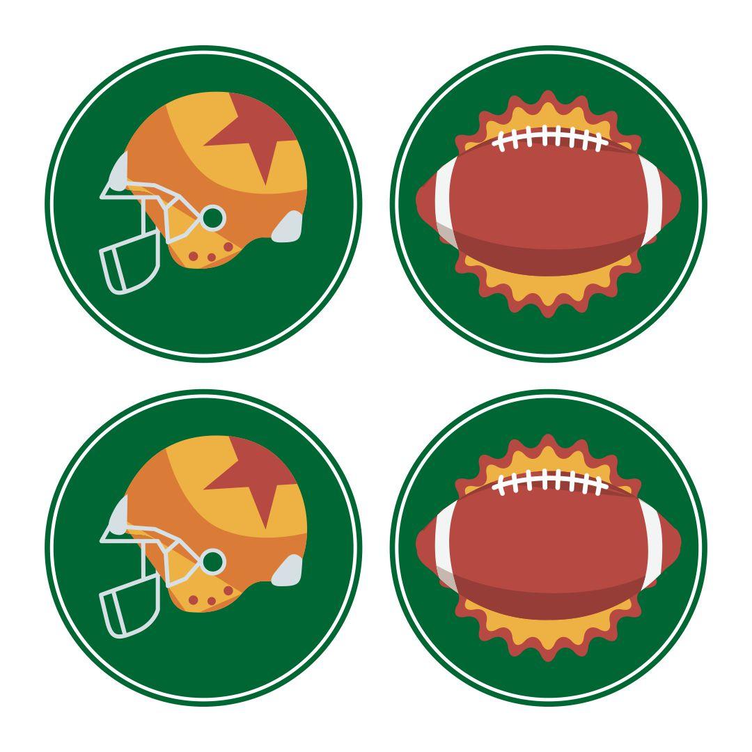 Football Cupcake Topper Printables