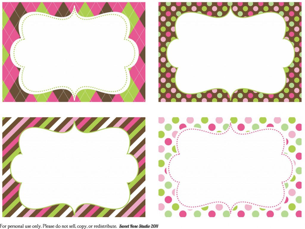 5 Images of Fancy Free Printable Gift Tags