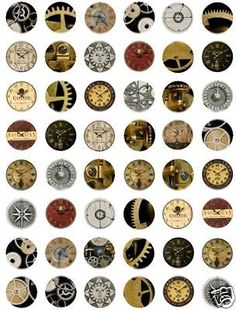 8 Images of Steampunk Bottle Cap Printables Free
