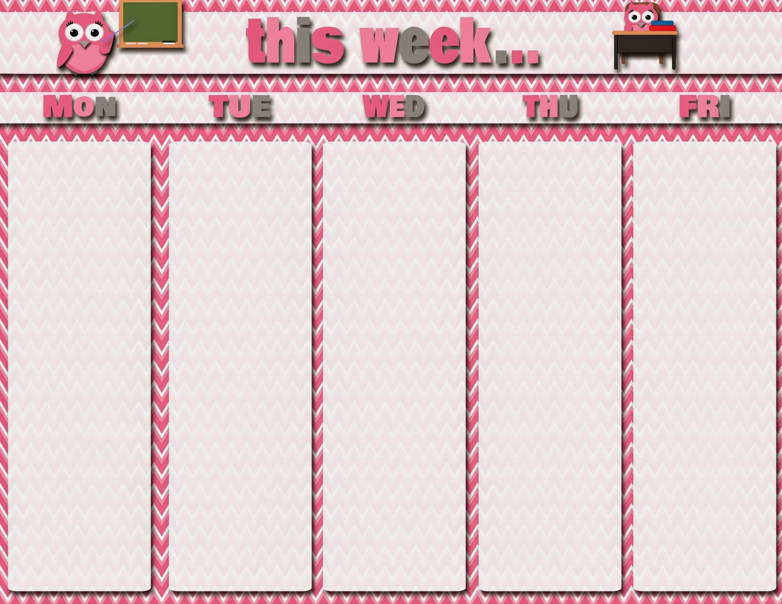 Calendar Girly : Best images of free printable weekly student calendars