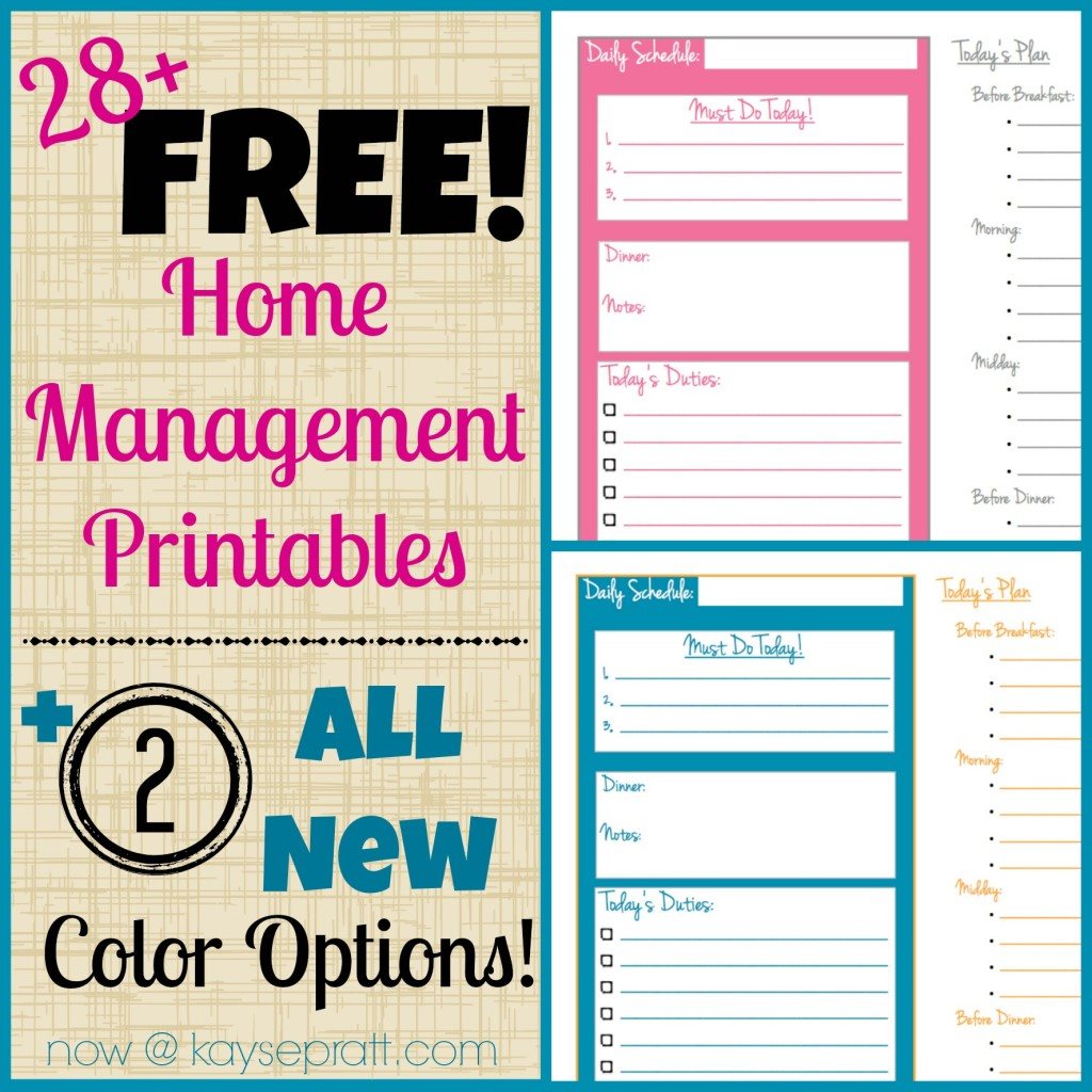 7 Images of Cute Home Management Printables