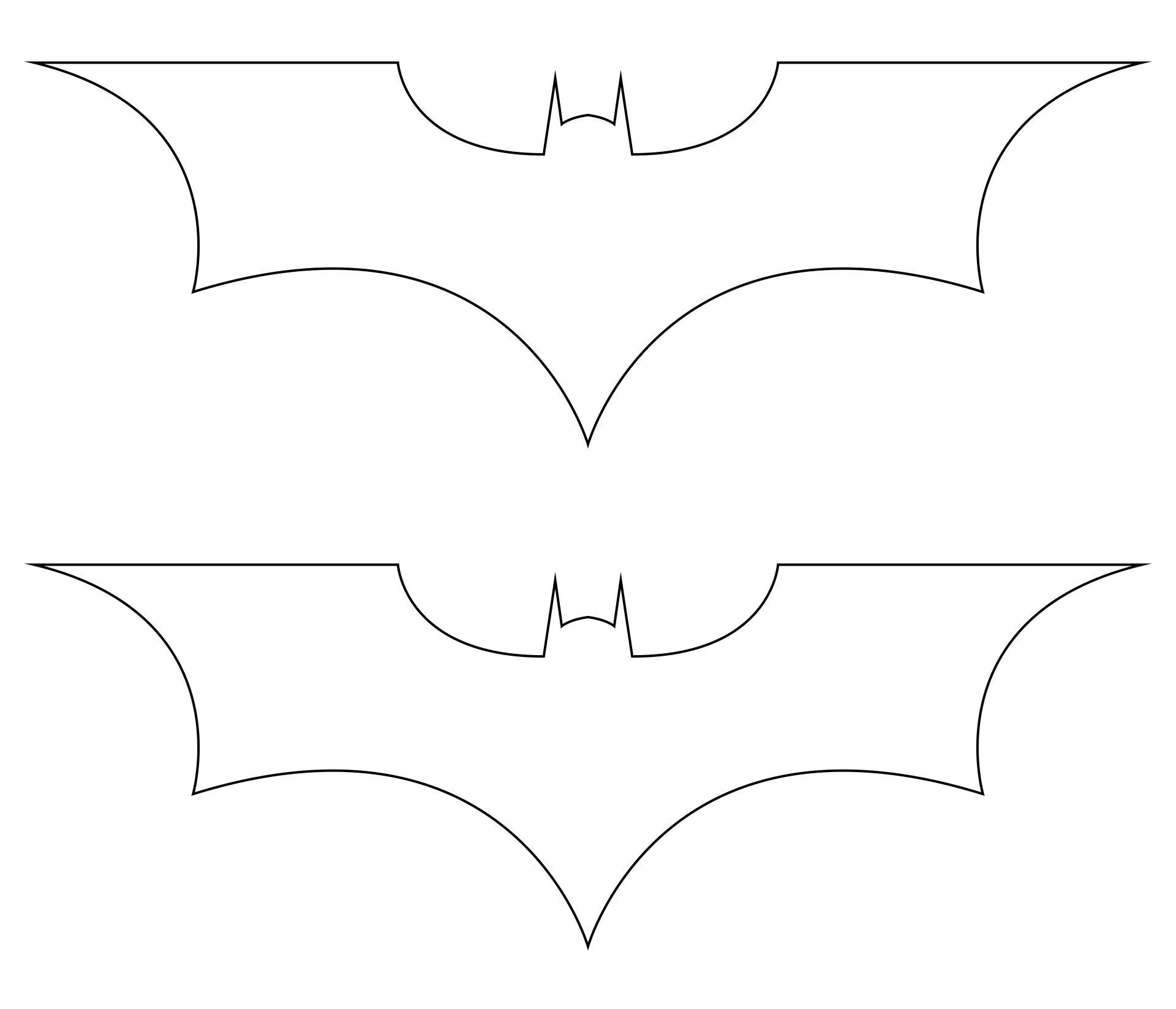 Printable Bat Template