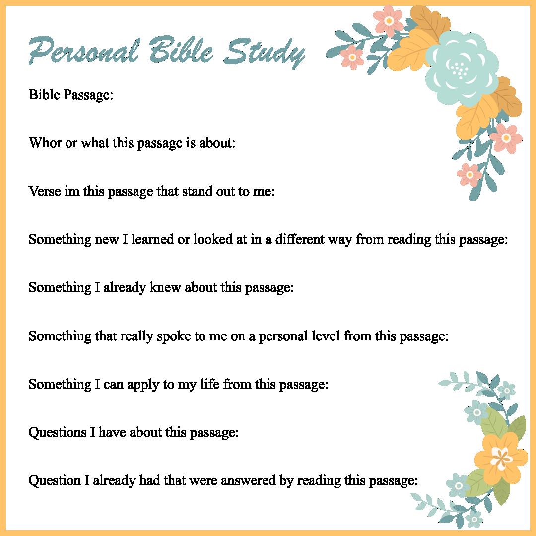 Printable Bible Study Women