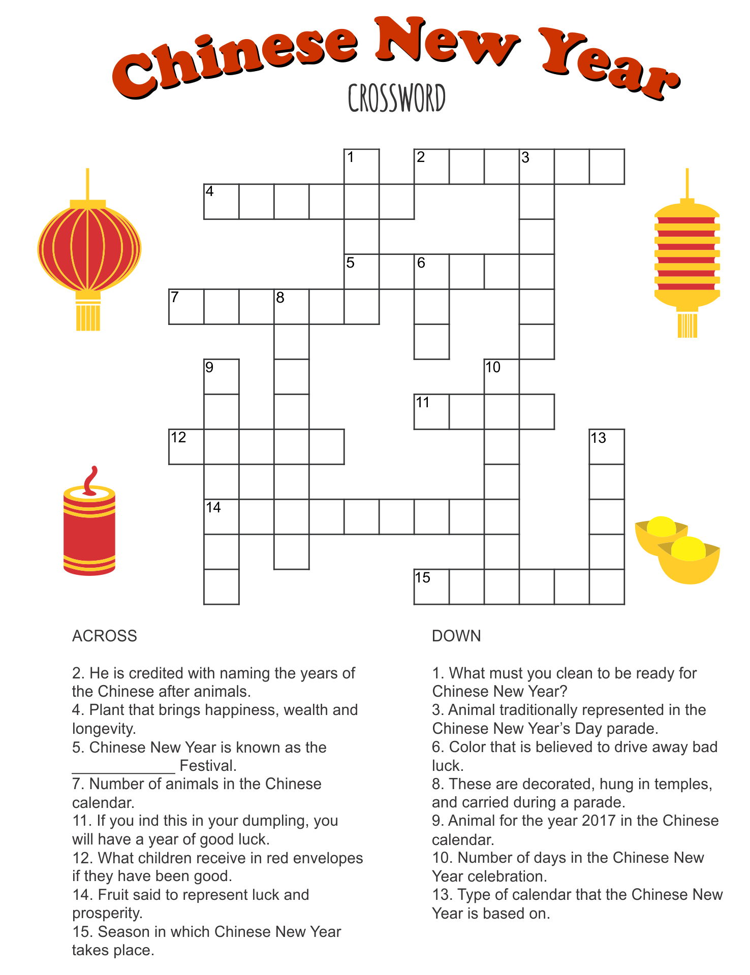 It is a photo of Simple Crossword Puzzles Printable throughout easy
