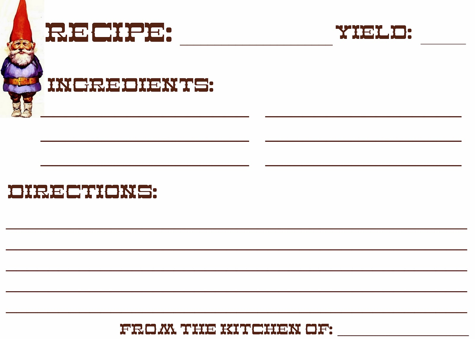 10 best images of index card free printables recipes for Free printable full page recipe templates