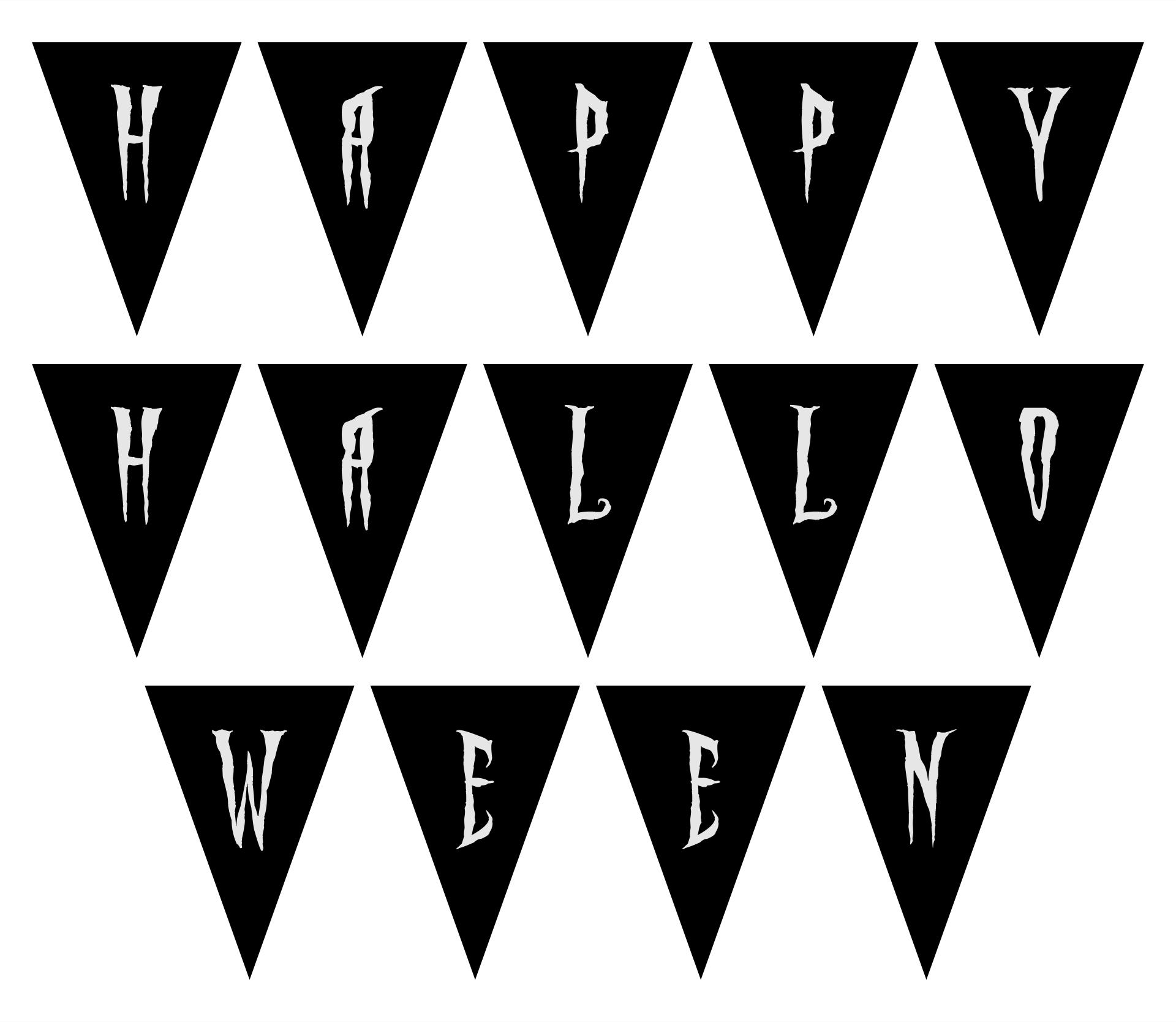 Printable Halloween Alphabet Banner