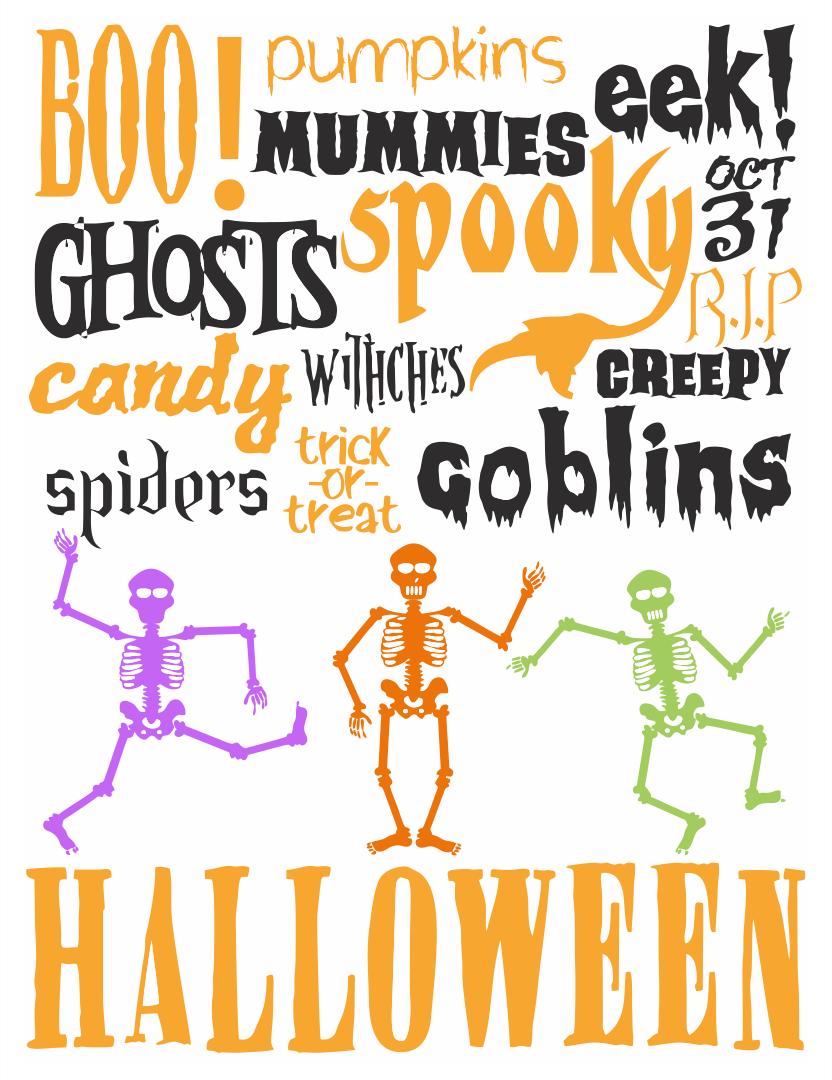 Printable Halloween Subway Art