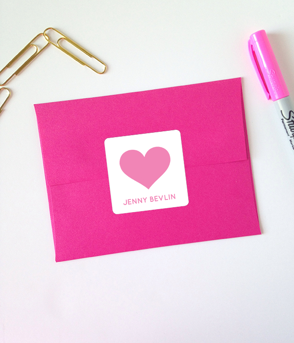 Printable Heart Stickers