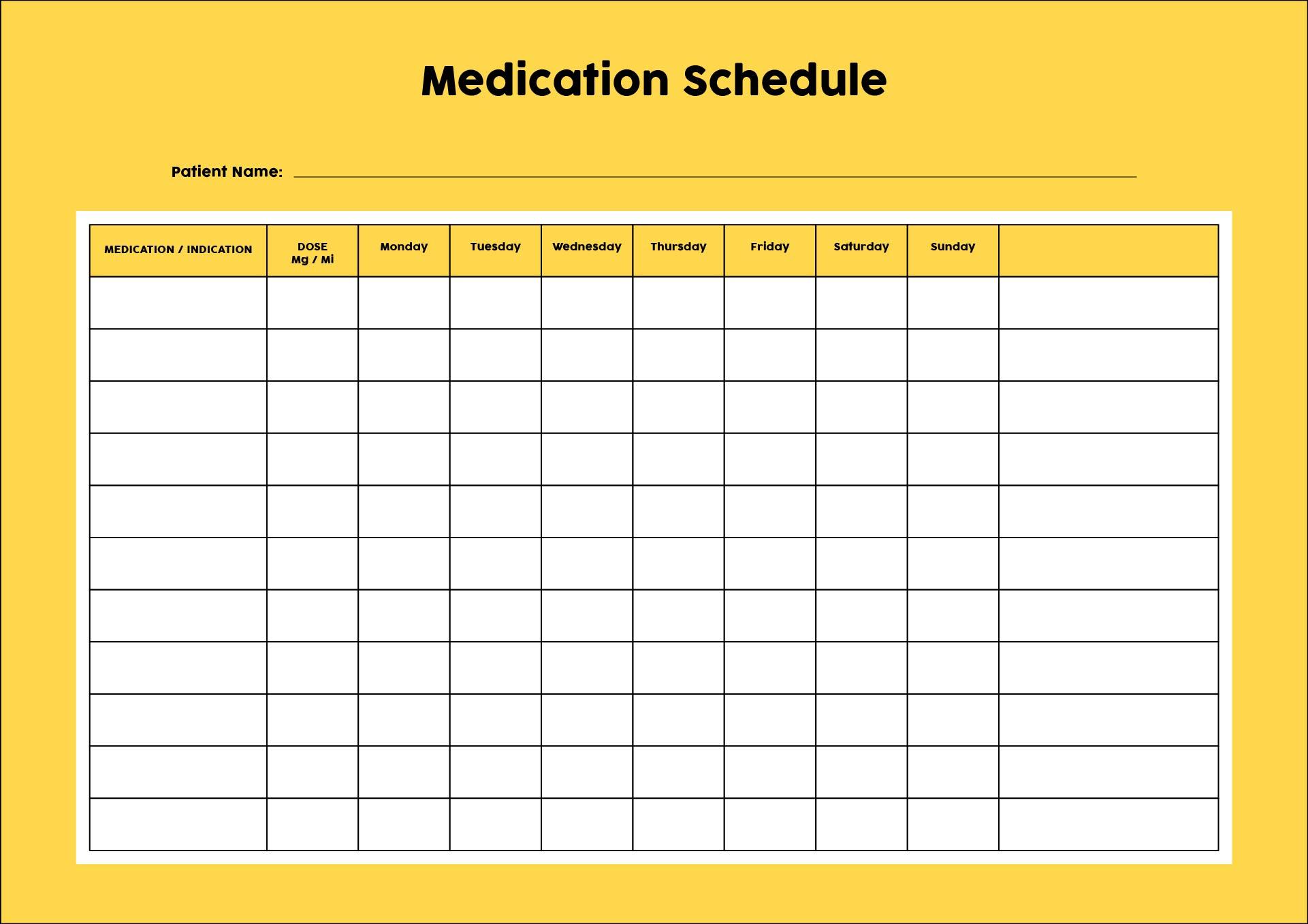 Daily Medication Log Printable - Daily Medication Log Template, Free ...
