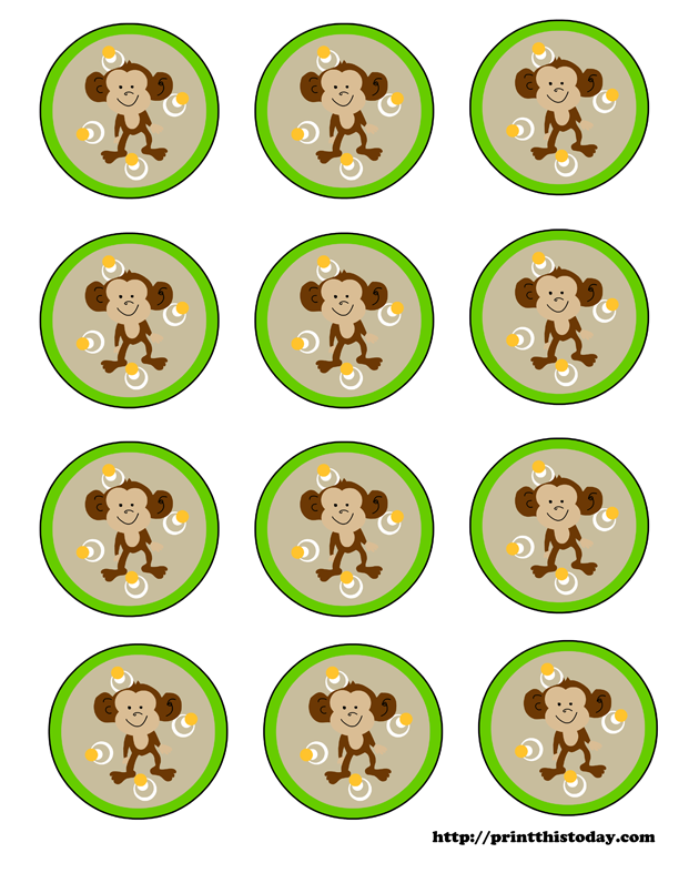 5 Images of Baby Monkey Printables