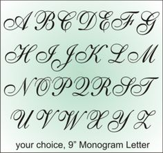 4 Images of Free Printable Monogram Letter Stencils