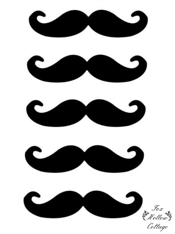 9 Images of Mustache Printable Photo Props