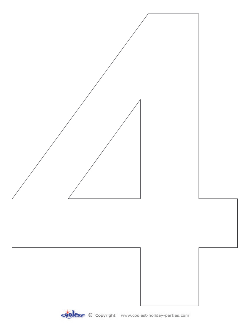6 Images of Printable Number 4
