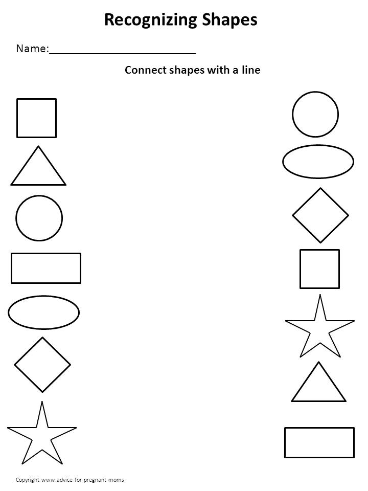 4 Images of Free Printable Preschool Worksheets Shapes
