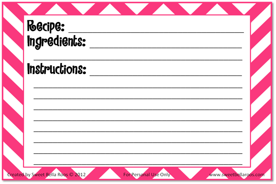 10 Images of Index Card Free Printables Recipes